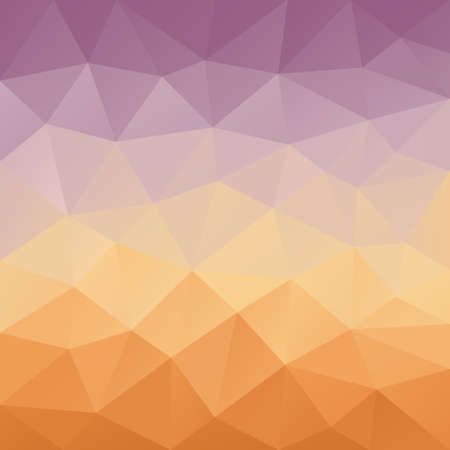 tessellation: vector abstract irregular polygon background with a triangular pattern in purple and orange gradient colors Illustration