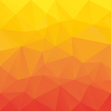 tessellation: vector abstract irregular polygon background with a triangular pattern in red, orange and yellow gradient colors