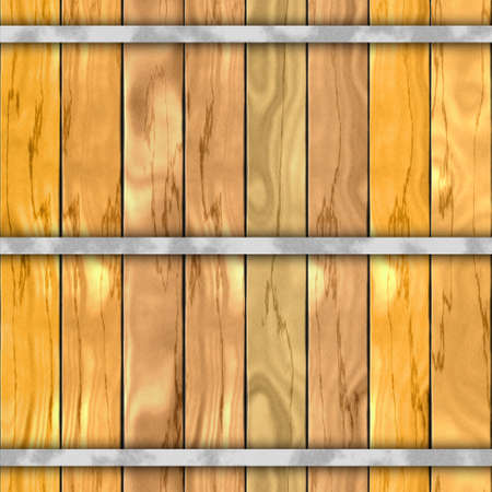 hoops: barrel wood plank seamless pattern texture background with three metal hoops