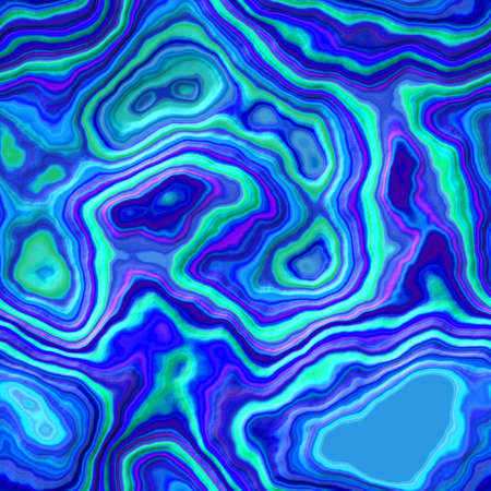 appearance: blue green pink plastic layered agate stone seamless pattern texture background - marbled appearance Stock Photo