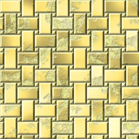 wallboard: gold metal yellow panels seamless pattern texture background - grunge appearance