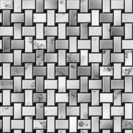 silver metal: silver metal panels seamless pattern texture background - grunge appearance - black and white