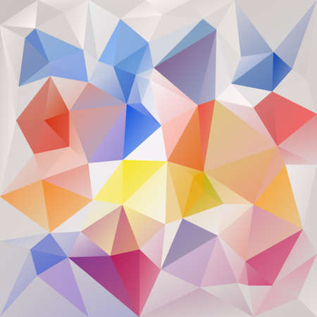tessellated: abstract irregular polygon background with a triangular pattern in pastel full colors