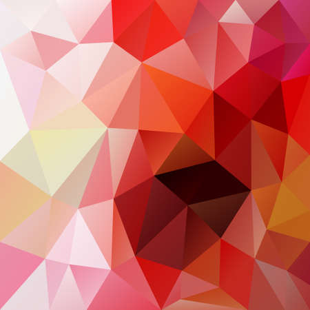 tessellation: abstract irregular polygon background with a triangular pattern in red, pink and orange colors