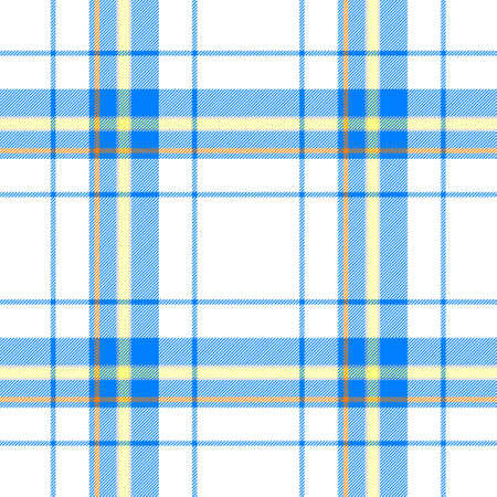 scot: blue yellow orange check diamond tartan scot plaid fabric material seamless pattern texture background