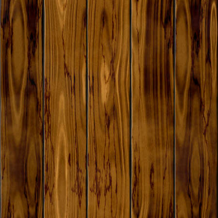 flooring design: dark old brown natural five wood fence boards seamless pattern texture background Stock Photo