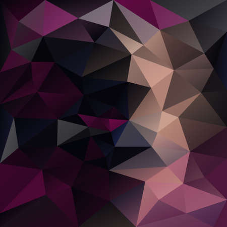 tessellation: abstract irregular polygon background with a triangular pattern in dark purple and black colors