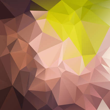 tessellation: abstract irregular polygon background with a triangular pattern in natural brown and green colors