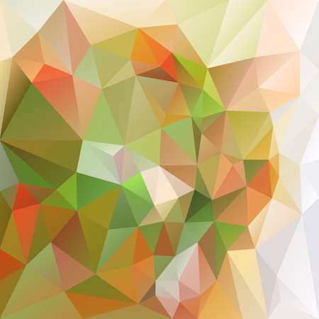 tessellation: abstract irregular polygon background with a triangular pattern in natural green and orange colors