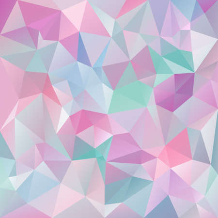 tessellated: abstract irregular polygon background with a triangular pattern in icy pastel colors - pink, violet, purple, blue, green