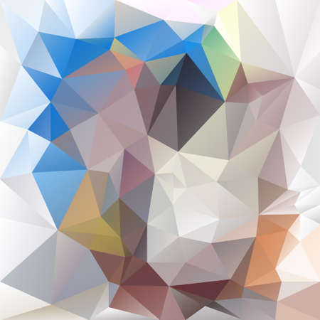 tessellation: abstract irregular polygon background with a triangular pattern in blue, beige and gray colors