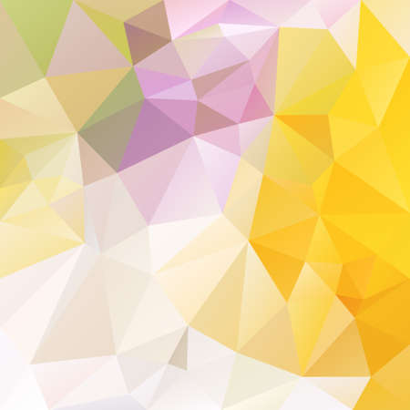 tessellation: abstract irregular polygon background with a triangular pattern in bright white and yellow colors
