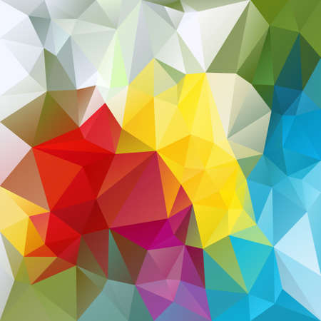 tessellation: abstract irregular polygon background with a triangular pattern in colorful colors Illustration
