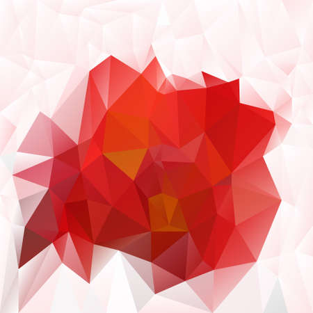 tessellation: abstract irregular polygon background with a triangular pattern in hot red colors