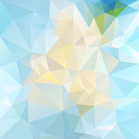 tessellation: abstract irregular polygon background with a triangular pattern in bright icy blue colors