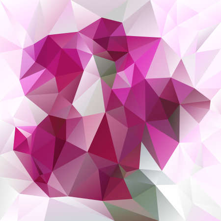 tessellation: abstract irregular polygon background with a triangular pattern in pink and magenta colors