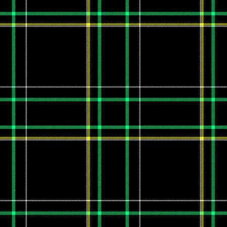 scots: black yellow green white check diamond tartan plaid fabric seamless pattern texture background