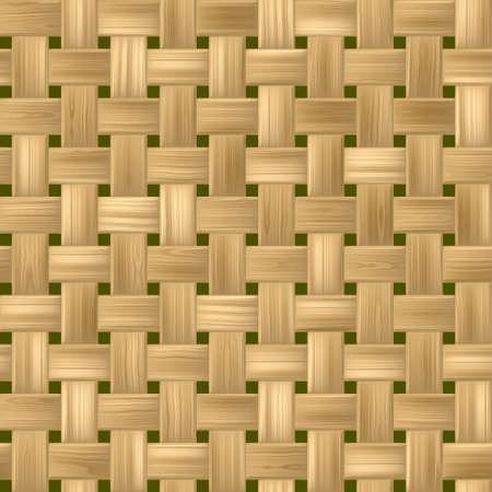 rattan: bright woody rattan wicker weave seamless pattern texture background Stock Photo