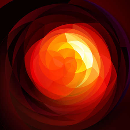 rotund: abstract modern artistic rounded shapes background - dark fiery red and yellow colors