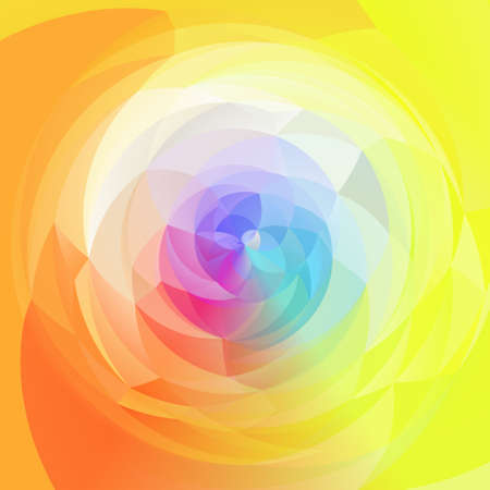 rotund: abstract modern artistic rounded shapes background - full spectrum rainbow colors