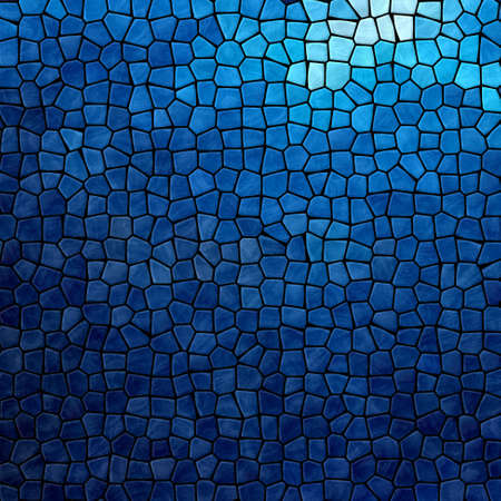grout: dark sea blue mosaic pattern texture background with black grout