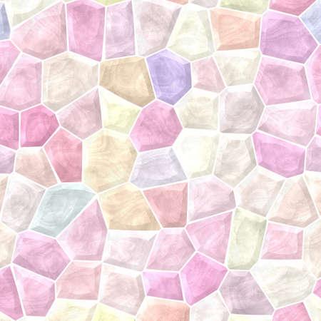 fondo de mosaico de colores pastel del espectro patrón textura con lechada de cemento blanco