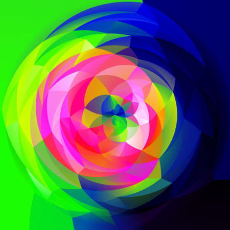 rotund: abstract modern artistic rounded shapes background - full color spectrum infra colors Stock Photo