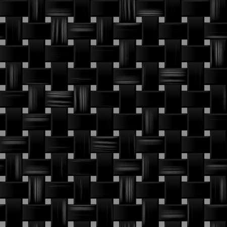 rattan: black woody rattan wicker weave seamless pattern texture background Stock Photo