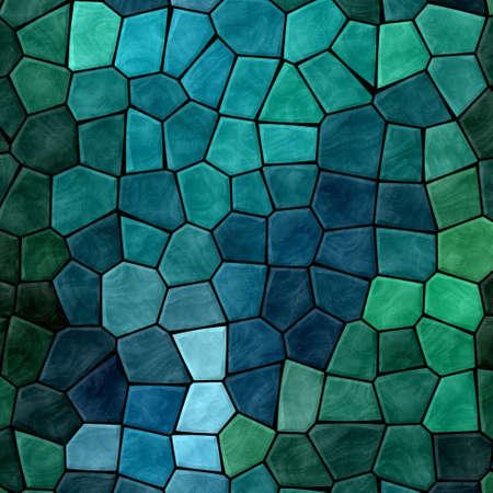 黒いグラウトと濃い青と緑のモザイク パターン テクスチャ背景 写真素材