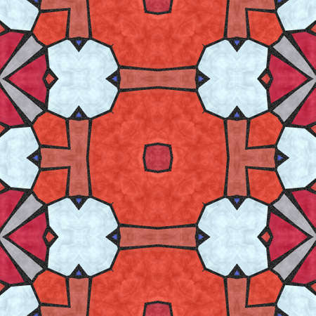 grout: orange and red marble kaleidoscope mosaic seamless pattern texture background