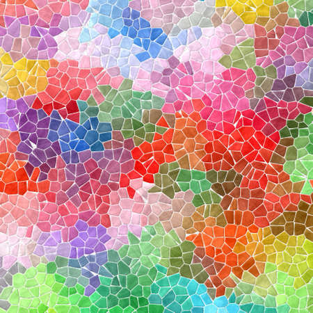 wallboard: pastel colorful mosaic pattern texture background with white grout
