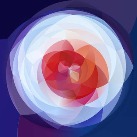 rotund: abstract modern artistic rounded floral shapes background - red, purple and blue colors Stock Photo