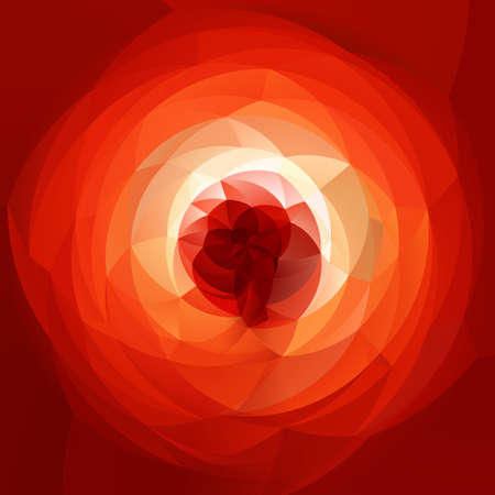 rotund: abstract modern artistic rounded shapes background - fiery red spectrum rainbow colors