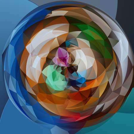 rotund: abstract modern artistic rounded shapes background - full color spectrum colors