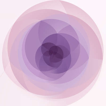 rotund: abstract modern artistic rounded floral shapes background - pink, violet and purple colors