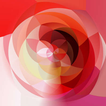 rotund: abstract modern artistic rounded floral shapes background - red, pink, magenta colors