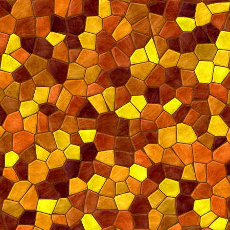 flooring design: mosaic yellow and orange pattern texture background with brown grout