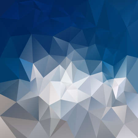 abstract irregular polygon background with a triangular pattern in gray and blue colors - sky over mountain Illustration