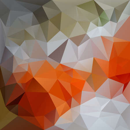 tessellation: abstract irregular polygon background with a triangular pattern in natural orange, green and gray colors
