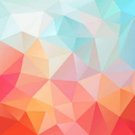 tessellation: abstract irregular polygon background with a triangular pattern in pastel pink, orange and blue colors