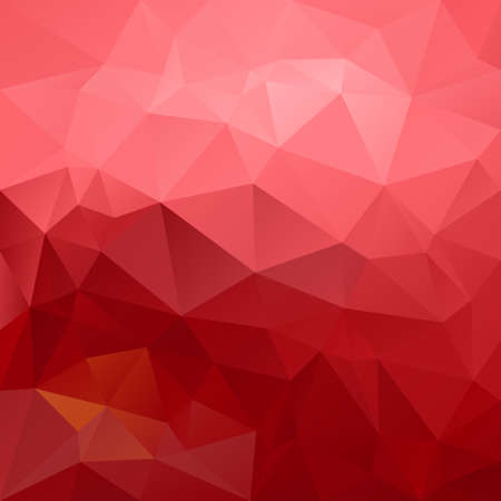 tessellation: abstract irregular polygon background with a triangular pattern in old  pink and red gradient colors