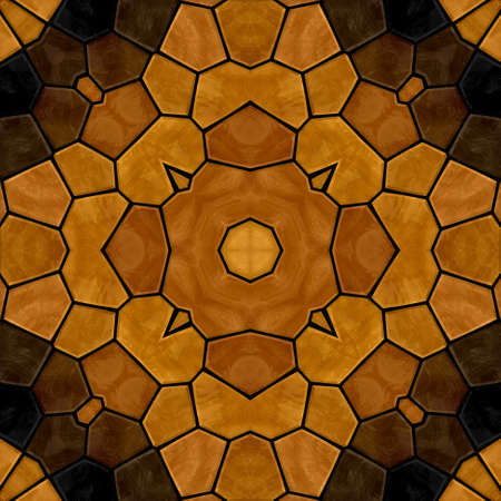 flooring design: dark woody floral stone mosaic kaleidoscope seamless pattern backgound with black grout