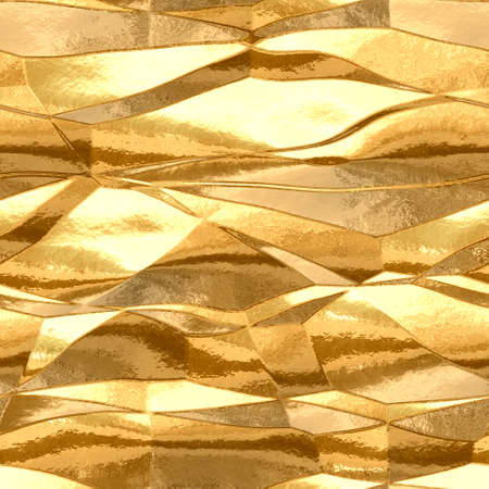 shinny: gold metal plate  seamless texture pattern background Stock Photo