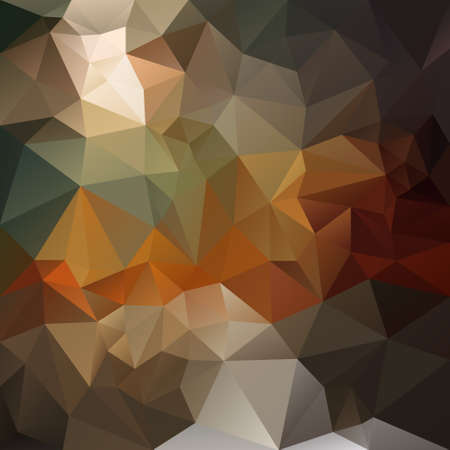 opal: vector abstract irregular polygon background with a triangular pattern in natural dark opal brown, orange and gray colors