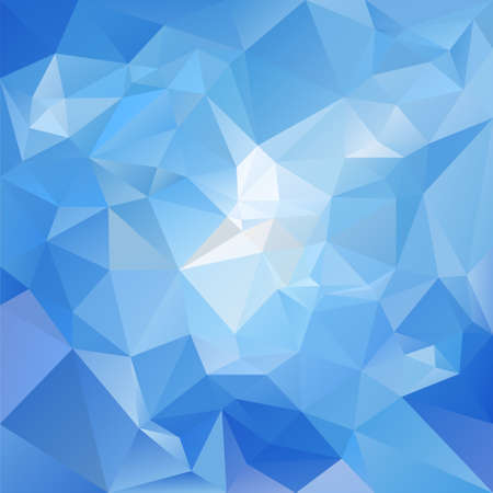 background pattern: abstract irregular polygon background with a triangular pattern in sky blue colors Illustration