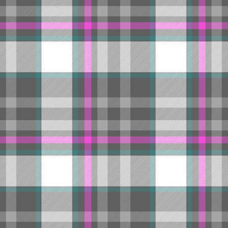 scots: check diamond tartan plaid fabric seamless pattern texture background - gray, pink, white and blue colored