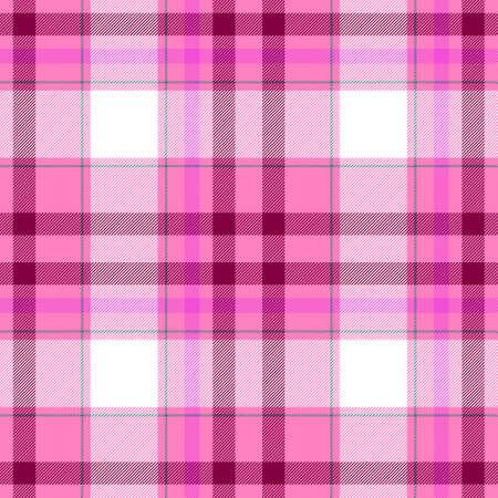 scots: check diamond tartan plaid fabric seamless pattern texture background - pink, purple and white colored