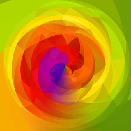rotund: abstract modern swirl background - full color rainbow spectrum colored - vibrant yellow and green colors