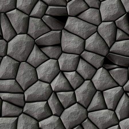 tessellation: seamless mosaic gray stones pattern texture background with white grout - cobble