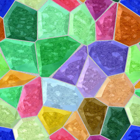 full color spectrum seamless mosaic pattern texture background with gray grout